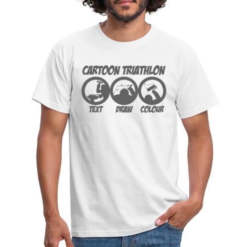 Cartoon Triathlon von TSEKA - Männer T-Shirt