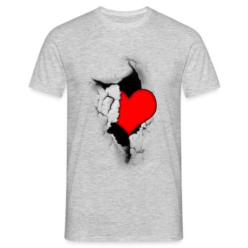 Heart from a crack - Miesten t-paita