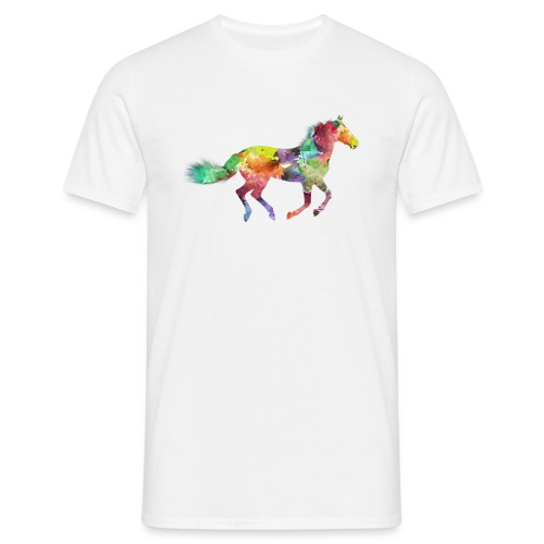 Cheval multicolore - T-shirt Homme