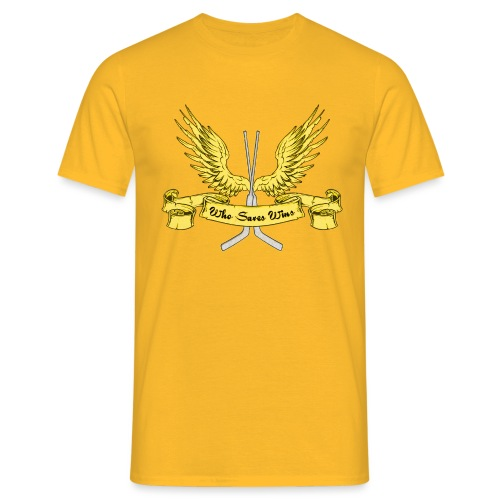 Who Saves Wins, Hockey Goalie - Men's T-Shirt