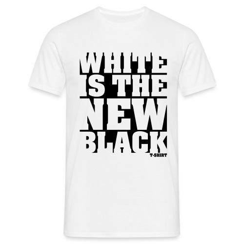 White is the new Black t shirt - Mannen T-shirt