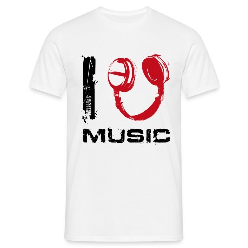 i 450p music txt black - Men's T-Shirt