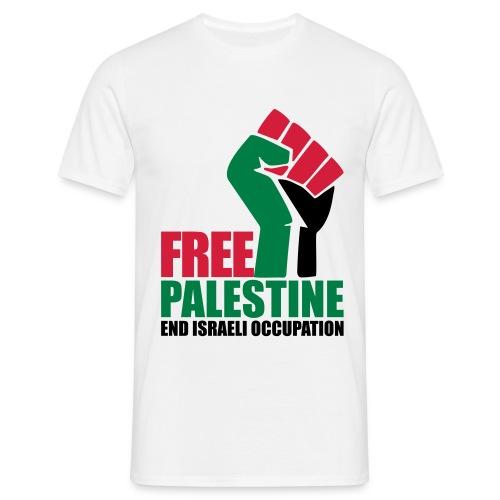 Free Palestine End Israeli Occupation - Men's T-Shirt