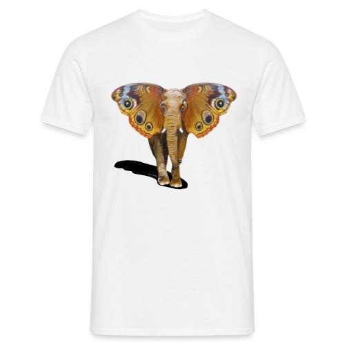 Schmetterling-Elefant - Männer T-Shirt