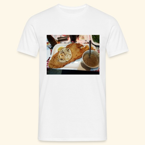 Schnitzel Motiv - Männer T-Shirt
