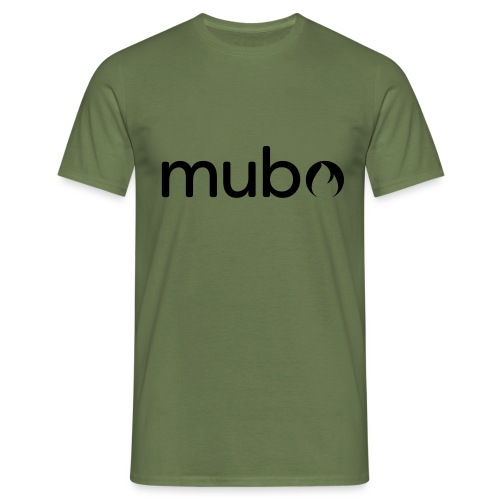 mubo Logo Word Black - Men's T-Shirt