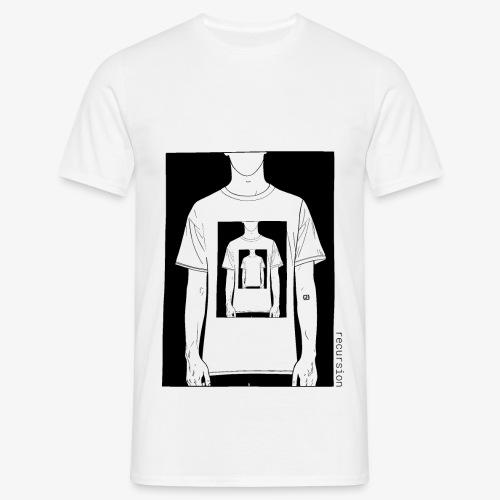 Recursion | Loop | Repeat | Optical illusion - Men's T-Shirt