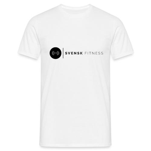 Svart logo vertikal dam - T-shirt herr