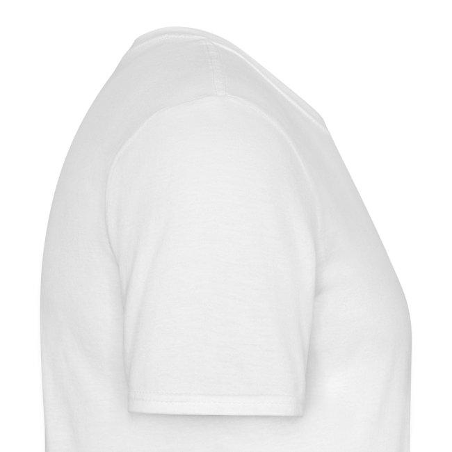 T-shirt white chest emblem black