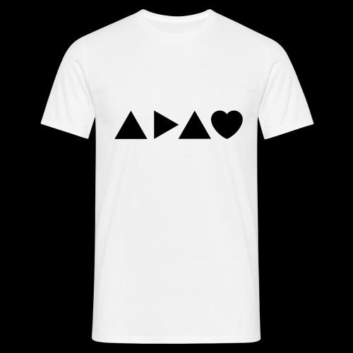 A Dark Adapted Heart ADAH logo black - Men's T-Shirt