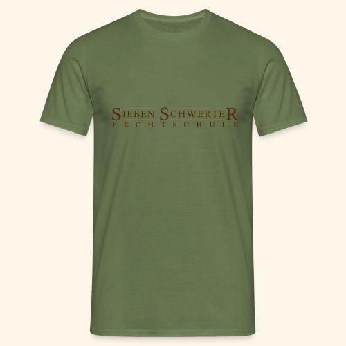 Fechtschule Schriftzug dunkel - Männer T-Shirt