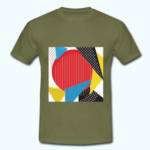 Geometry collage Abstract colors - Men's T-Shirt