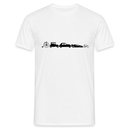 evolution of vechicles - Mannen T-shirt