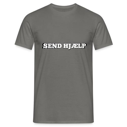 SEND HJÆLP T-shirt - Herre-T-shirt