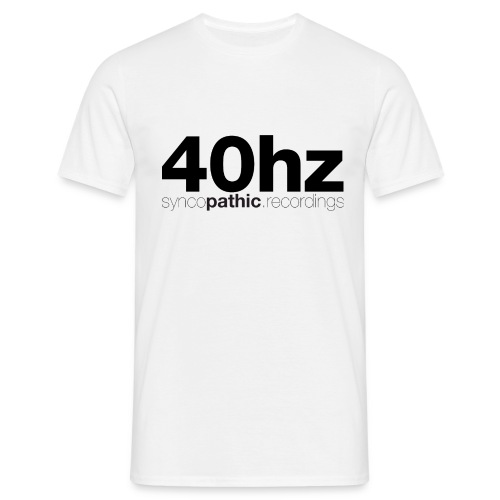 40Hz Black - Men's T-Shirt