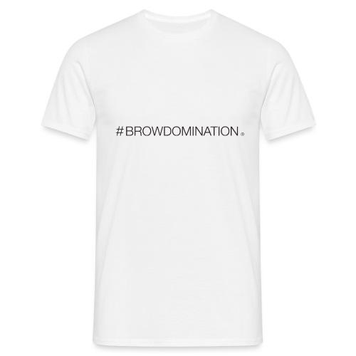BrowDom Hashtag Black - Men's T-Shirt