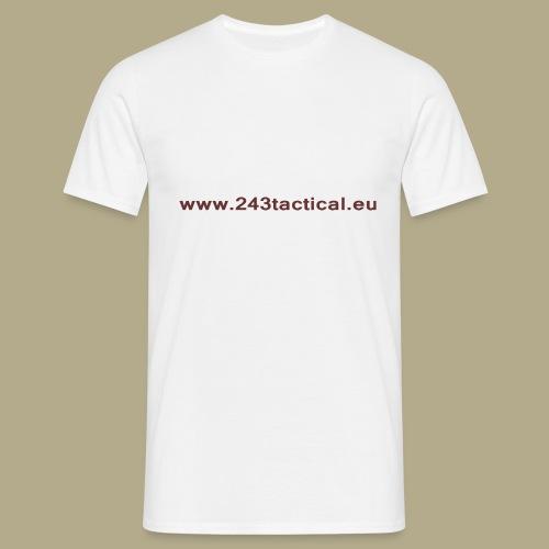 .243 Tactical Website - Mannen T-shirt
