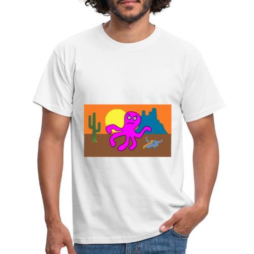 pulpo en el desierto - Camiseta hombre