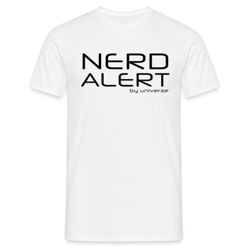 Nerd Alert - Hvid - Herre-T-shirt