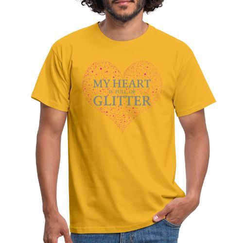 Glitzer Herz - Männer T-Shirt