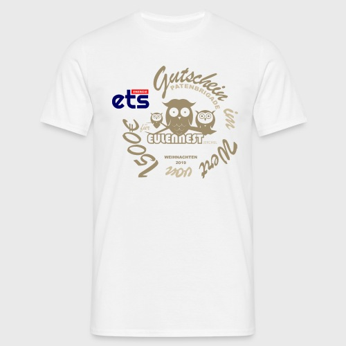 gutscheinshirt eulennest kinderheim - Männer T-Shirt