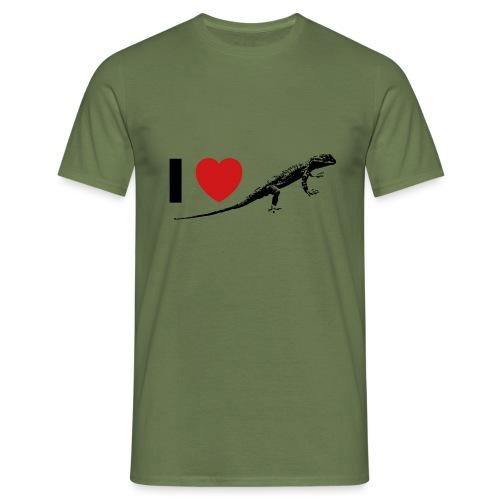 I ❤️ Echse - Männer T-Shirt