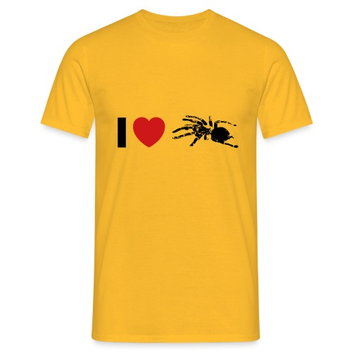 I ❤️ Vogelspinne - Männer T-Shirt
