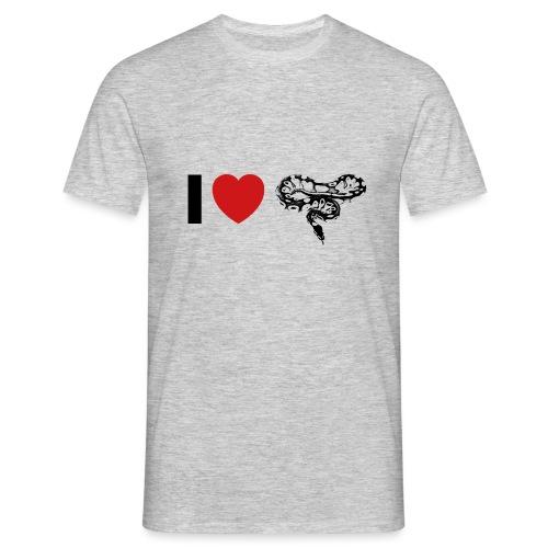 I ❤️ Schlange - Männer T-Shirt