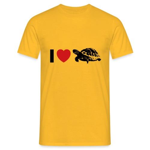 I ❤️ Schildkröte - Männer T-Shirt