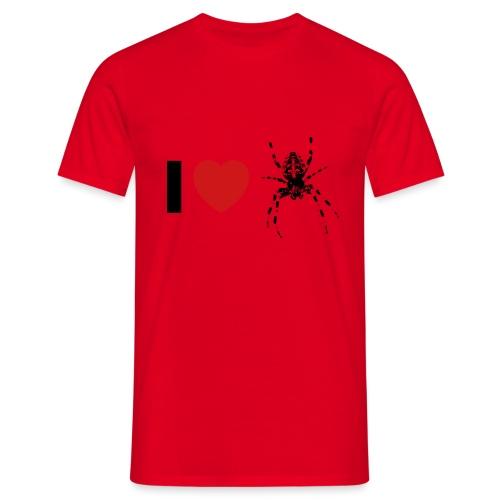 I ❤️ Kreuzspinne - Männer T-Shirt