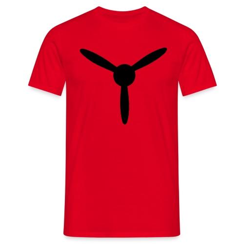 3 blade propeller 1 colour - Men's T-Shirt