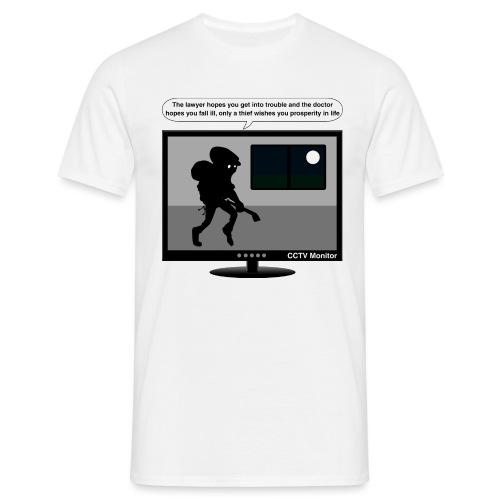 CCTV monitor - Thief-wish - Men's T-Shirt