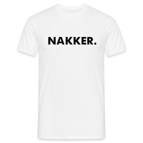 'Nakker' Wit (Maat S+) - Mannen T-shirt