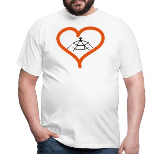 Herzjurte - Männer T-Shirt