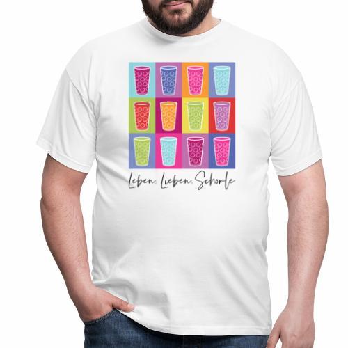 Leben, Lieben, Schorle - Männer T-Shirt