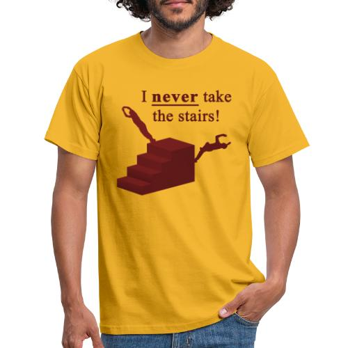 I Never Take The Stairs Red Parkour - Herre-T-shirt