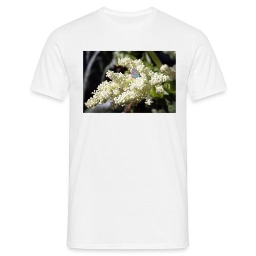 Perhonen raparperin kukalla - Miesten t-paita