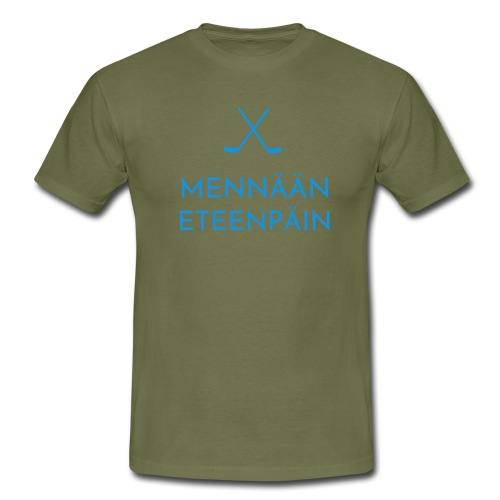 Mennaeaen eteenpaein sininen - Miesten t-paita