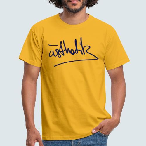 Handschrift Ästhetik - Männer T-Shirt