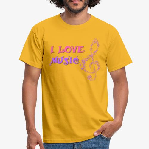 Love Music - Camiseta hombre