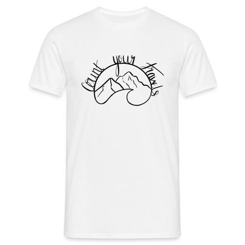 Count Your Travels LOGO - Men's T-Shirt