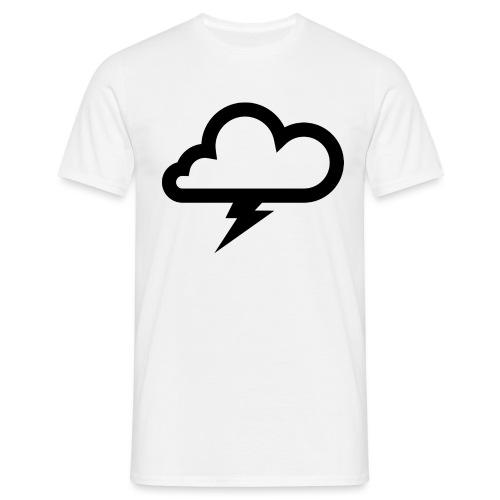 Wolke mit Blitz - Männer T-Shirt