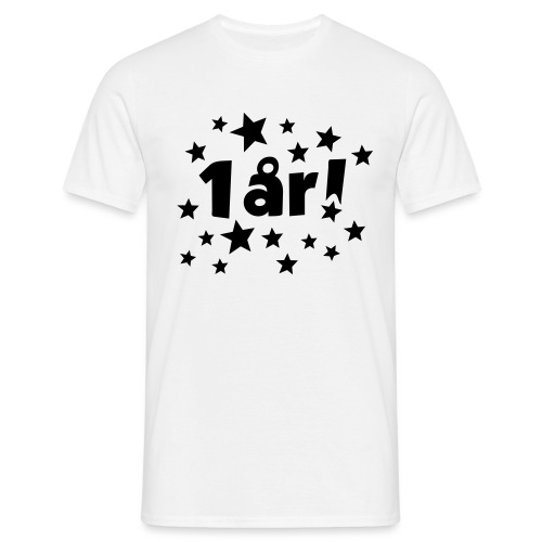 1 år! - T-skjorte for menn