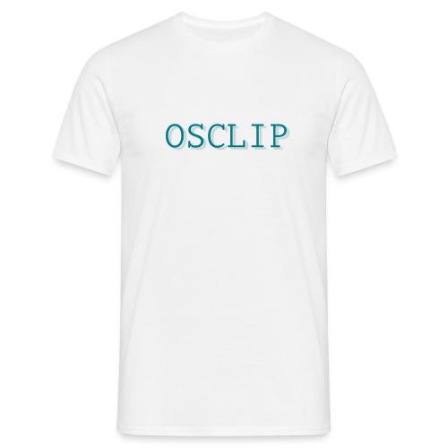 OSCLIP simple text - T-shirt herr