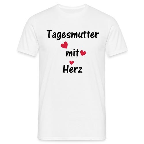 Tagesmutter mit Herz - Männer T-Shirt