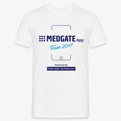 Medgate App Team 2017 White - Männer T-Shirt