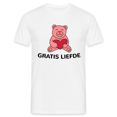 Grappige Rompertjes: Gratis liefde - Mannen T-shirt