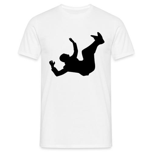 Fallender Mann - Männer T-Shirt