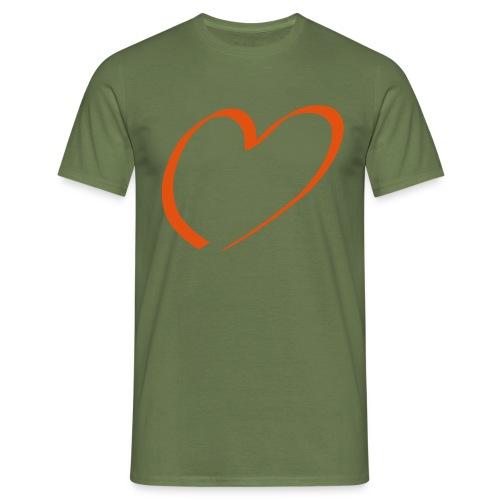 Herz rot - Männer T-Shirt
