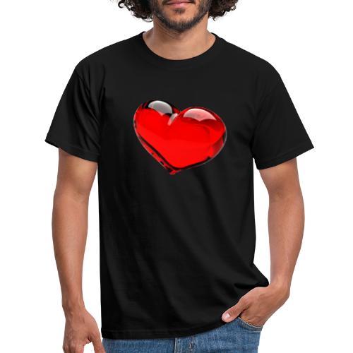 serce 3D - Koszulka męska